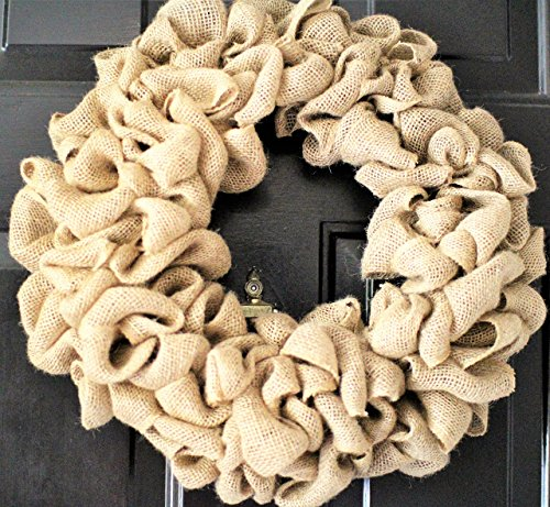 24 inch Burlap wreath , Wedding wreath, Rustic wreath , Outdoor wreath ,Front door Wreath,DIY Wreath,Plain Wreath, Spring Wreath, Winter -