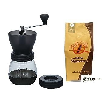 Amazon De Hario Skerton Kaffeemuhle Mit Keramikmahlwerk Set Mit 1