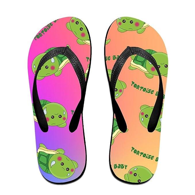 Unisex Non-slip Flip Flops Tortoise Baby Cool Beach Slippers Sandal