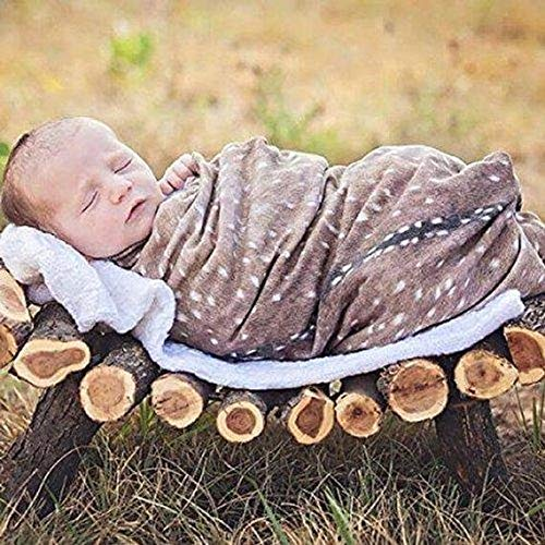 Handmade Baby Receiving Blanket - Deer Swaddle Blanket Fawn Baby Receiving Buck Handmade with USA Jersey Knit