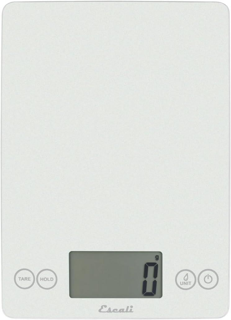 """Escali 157FW Arti Glass Digital Scale, 9"""" x 6.5"""" x 0.75"""", Frost White"""
