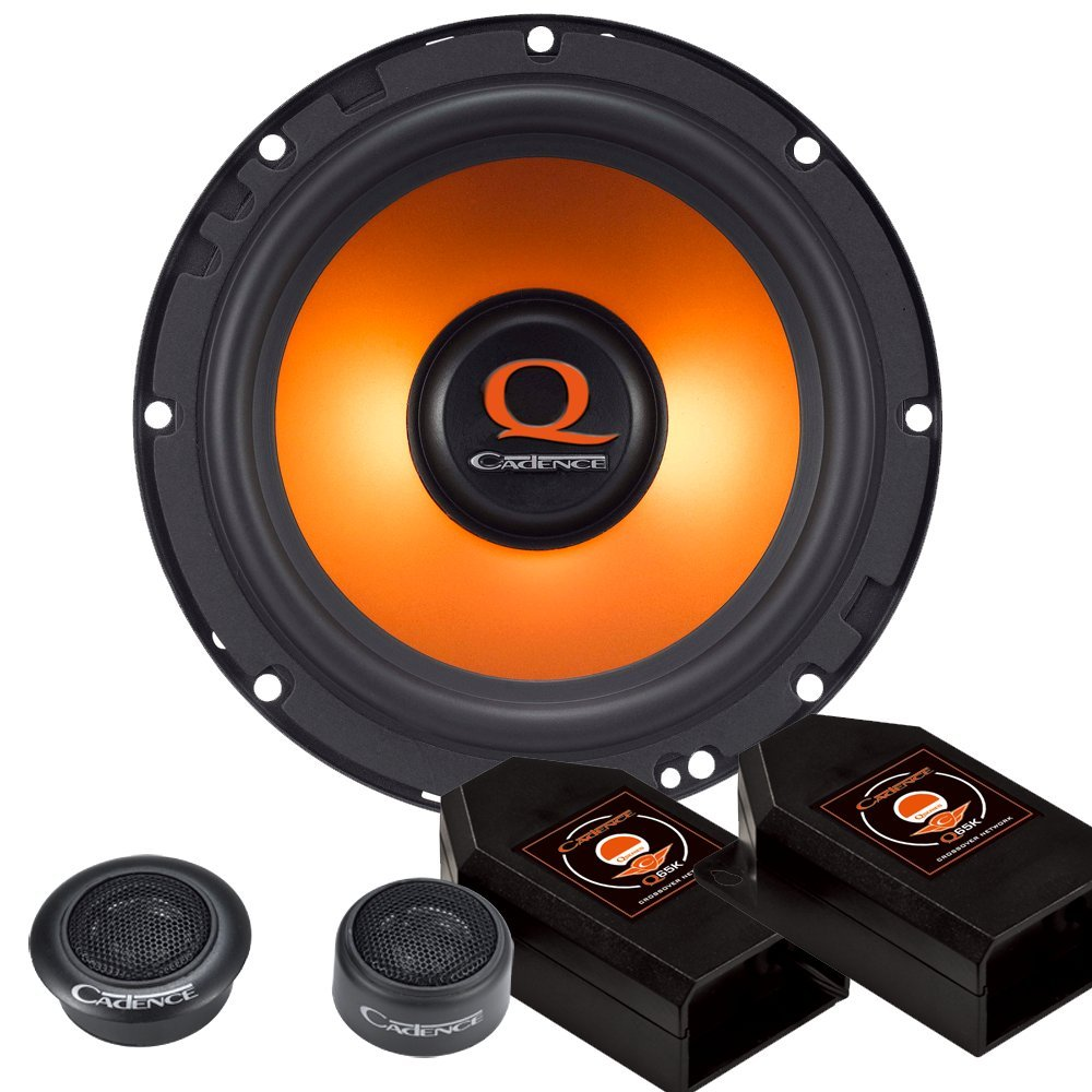 Cadence Acoustic S Q65K 300W 6.5-Inch 2-Way Q Series Component Car Speaker System, Set of 2 Cadance Acoustics