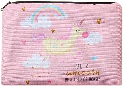 Estuche para lápices con diseño de unicornio, regalo para niñas y niños, bonito diseño impreso, tridimensional, estilo Kawaii, color rosa, estuche para maquillajes: Amazon.es: Oficina y papelería