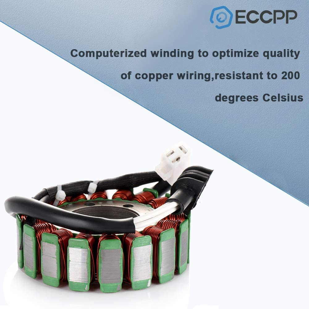 ECCPP Generator Stator Magneto Fit for 2002 Arctic Cat 375 2003-2008 Arctic Cat 400 Compatible with 32102-38F01 32101-38F00 Stator