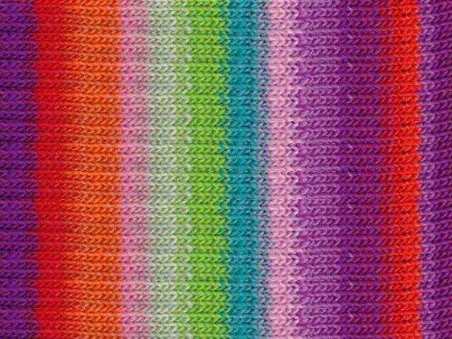 Noro Kureyon, 319 - Violet-Red-Orange-Rose-Mint-Lime (110 Yarn Yard)