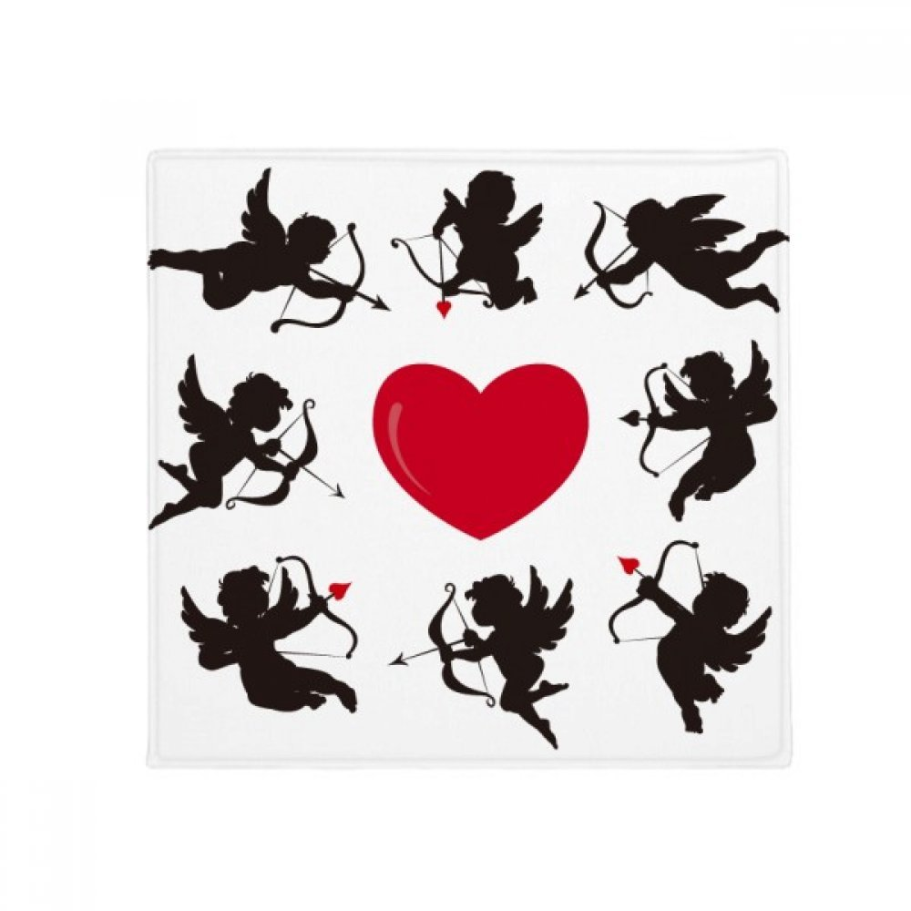 DIYthinker Cupid Angel Red Heart Comination Pattern Anti-Slip Floor Pet Mat Square Home Kitchen Door 80Cm Gift
