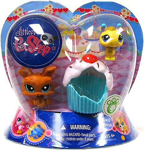 Littlest Pet Shop Exclusive Valentines Day 2Pack Bumblebee & Dog with Cupcake -