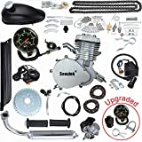 gas bike - Seeutek PK80 80cc Bicycle Engine Kit 2-Stroke Gas Motorized Bike Motor Kit Upgrade with Speedoemter