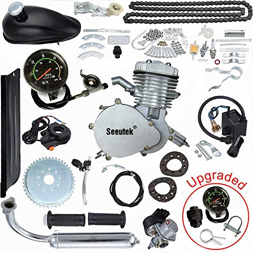 Seeutek PK80 80cc Bicycle Engine Kit Motorized Bike Motor with Speedoemter