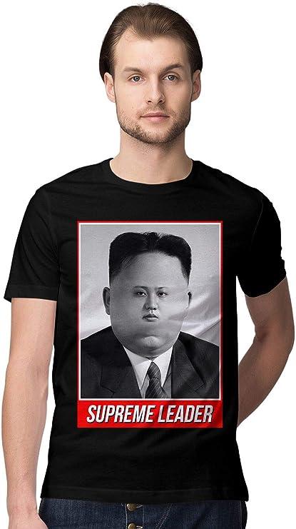 BLAK TEE Hombre Supreme Leader Meme Kim Jong Un Camiseta