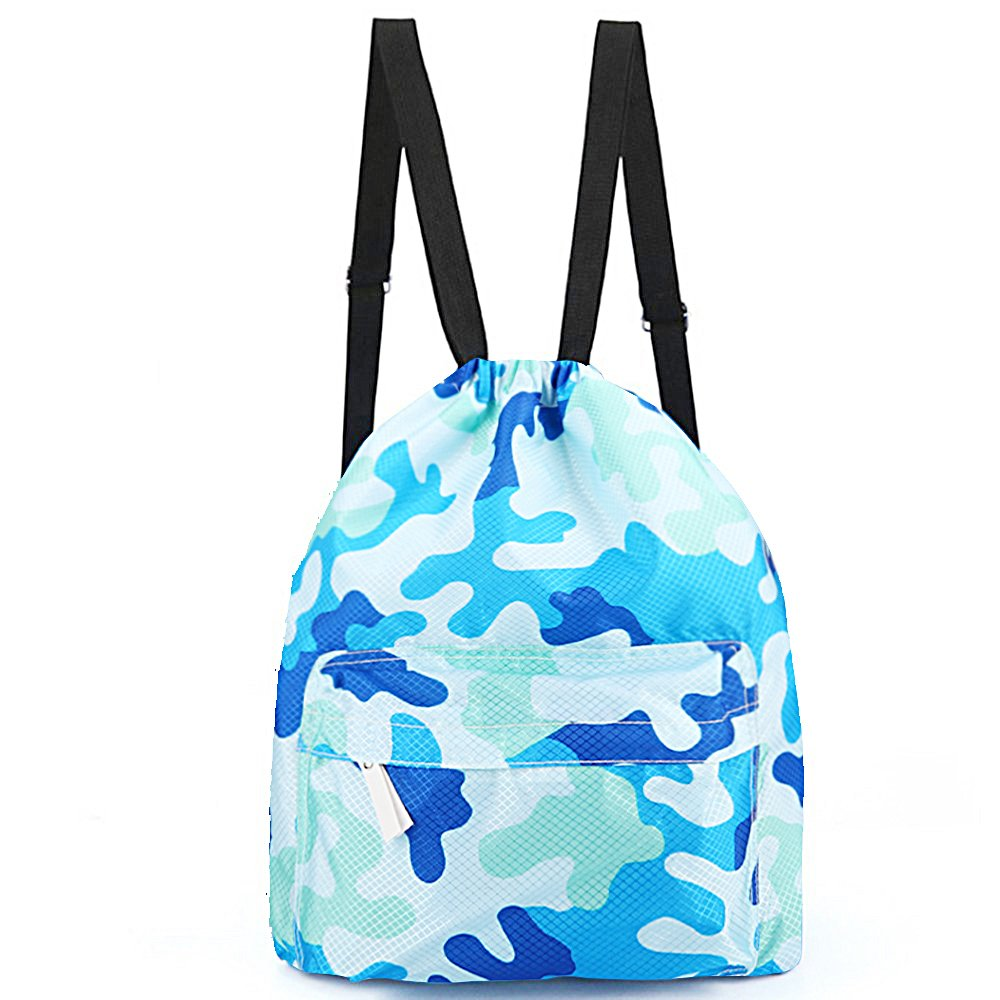 39d6d54116 sockfun Swimming Bag Dry Wet Separated Gym Sack Waterproof Drawstring  Backpack Women Men Adjustable Sports Gear ...