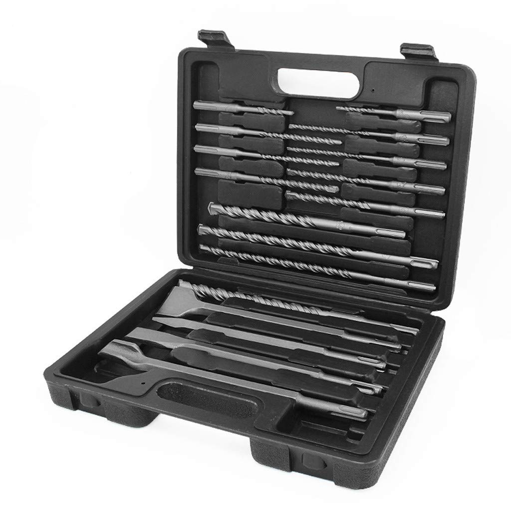 Redgiants 17Pc Drill Bils&Chisel SDS Plus Rotary Hammer Drill Bits Set Fit for Bosch Hilti Plus Concrete Masonry Hole Tool Set by Redgiants
