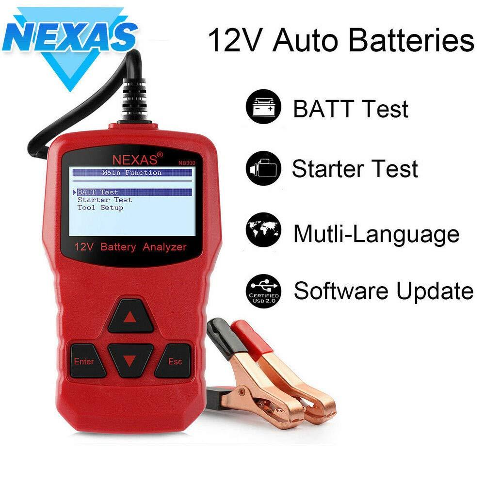 NEXAS NB300 12V Car Battery Tester Universal Auto Digital Battery Analyzer Tool T85017