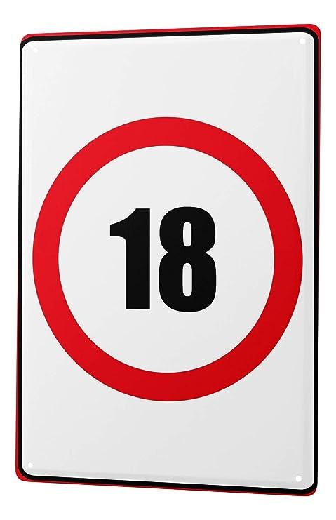 Cartel de chapa Placa metal tin sign Warning Sign cumpleaños ...