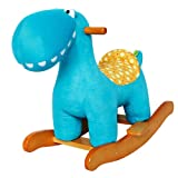 Labebe Baby Wooden Rocking Horse Brown Knight, Boys & Girls Toddler Rocking Ride-on Toys for 1-3 years old, Stuffed Animal Seat, ASTM/CE Safety Certified, Creative Birthday Gift
