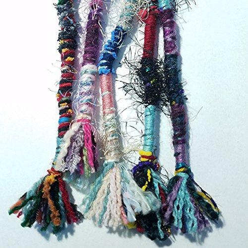 Hair Tassel, Handmade Long MULTICOLOR, Qty: 1, Random Colorful 18 Bohemian Hair Wrap, Boho Hair Fall, Hippie Hair Wrap Pendant Dreadlocks Dreads Accessory