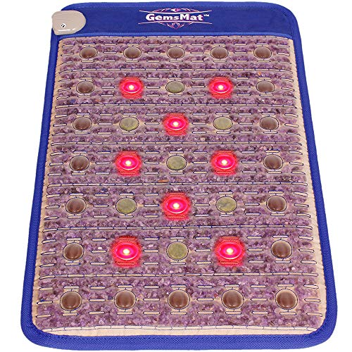 Great Heating pad GemsMat – Regis- Far Infrared Amethyst Jade Tourmaline Crystal Heat Stone Mat (32″L x 20″W) – Red Light 8 Photon FIR Therapy -FDA Registered Manufacturer – Adjustable Timer & Temperature – Heating Pad 2019