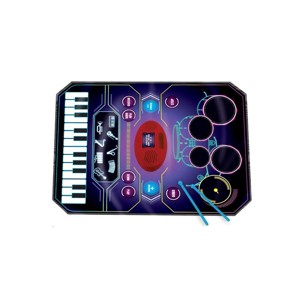HXGL-ドラム 子供の早期教育ジャズドラム電子ピアノ音楽ブランケットガールボーイミュージカルおもちゃ (サイズ さいず : L l) L l  B07LD6SSJP