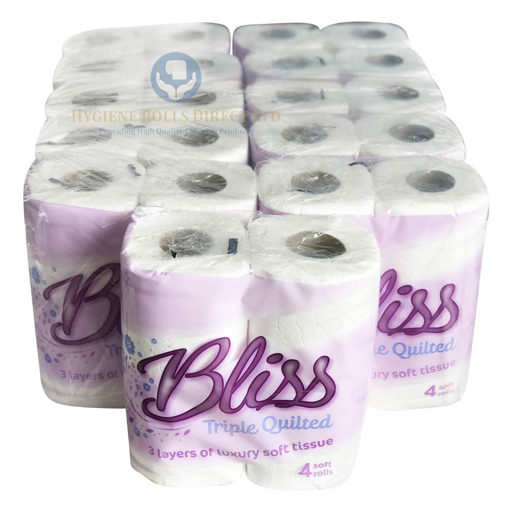 Bliss Triple Quilted Luxury Toilet Tissue Roll 10 x 4 pack Toilet Rolls