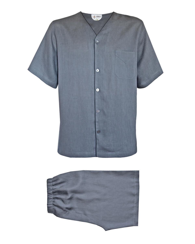 Armani International Dante Shorts Pajama Linen Medium Cloudburst by Armani International