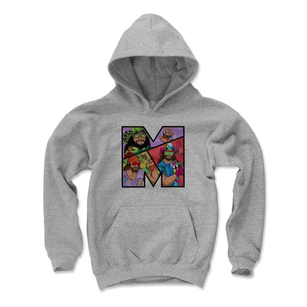 500 Level Macho Man Randy Savage Kids Youth Hoodie M Gray - Macho Man M PR - Officially Licensed by Pro Wrestling Tees by 500 Level