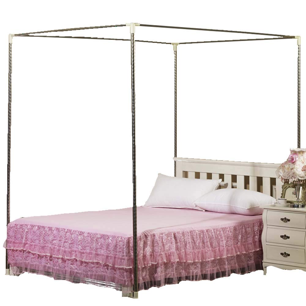 Mengersi Bedding Canopy Bed Frame Post,White (White, Twin Extra Long)