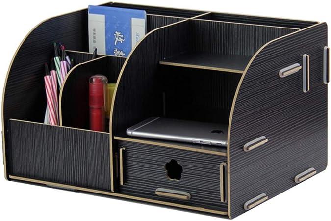 Rack de almacenamiento de escritorio Papelería de escritorio Acabado Canasta de almacenamiento Suministros de oficina Caja de almacenamiento Perfecto para el hogar, los estudiantes o la oficina: Amazon.es: Hogar