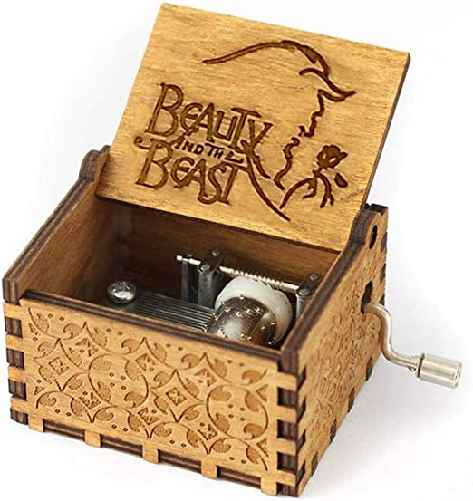 FOONEE Caja de Música Harry Potter, Cajas de Música Pequeñas para Mujeres/Niñas / Niños/Niños, Artesanías de Caja de Madera Tallada Antigua (A): Amazon.es: Hogar