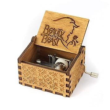 FOONEE Caja de Música Harry Potter, Cajas de Música Pequeñas para Mujeres/Niñas / Niños/Niños, Artesanías de Caja de Madera Tallada Antigua (A): Amazon.es: ...