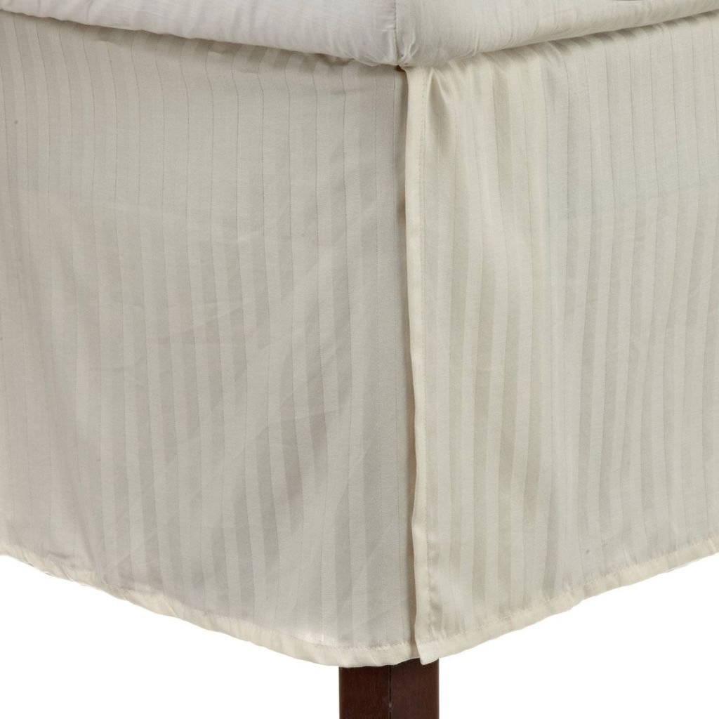 Doppio cm Tasca Goccia Elegante Finitura Premium qualit/à VICTORIA BEDDING 100/% Cotone Egiziano 1-PCS mantovana giroletto// 15 Sage Stripe 100/% Cotone