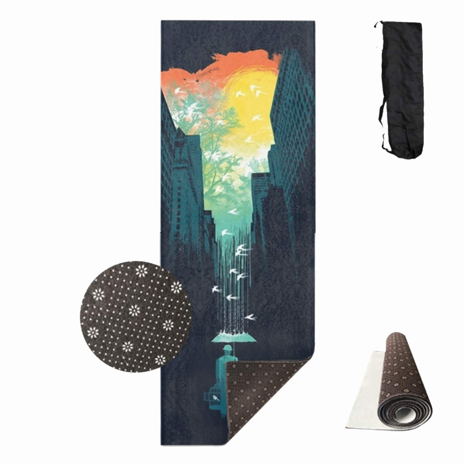 HHNYL I Want My Blue Sky Yoga Mats Luxuriously Soft, Printed, Non-Slip, Eco Friendly Yoga Mat