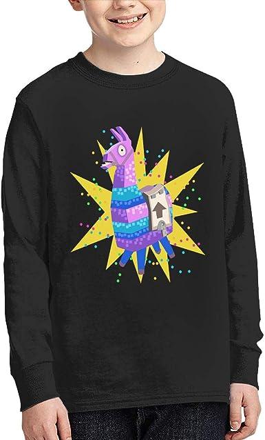 Fortnite Boys Teenagers Llama Print Long Sleeve T Shirt