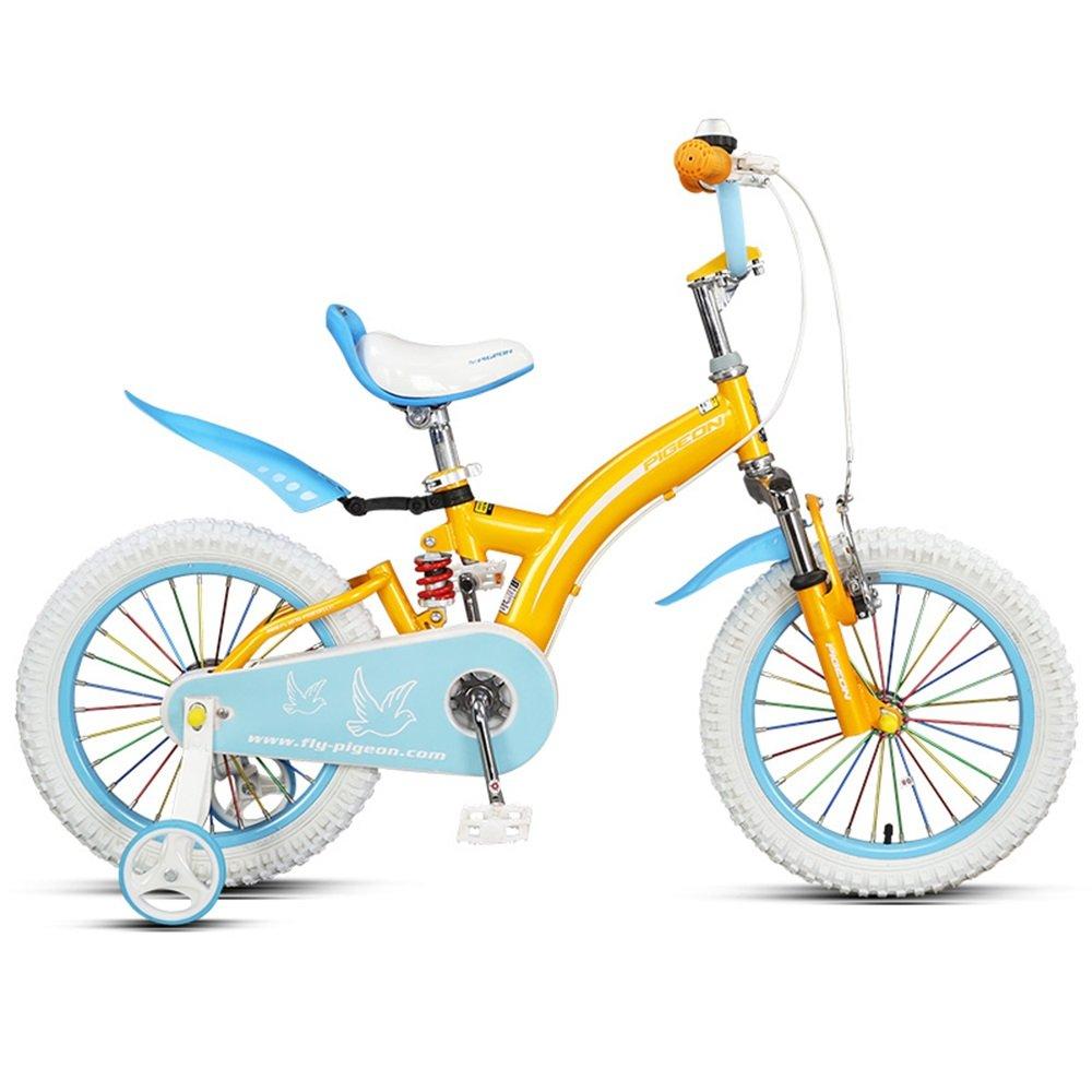 美しい 家ベビーカーを避けるために、前後のダンピング子供用自転車、14/16インチの男の子と女の子3-8歳 (色 : オレンジ, サイズ さいず : 14 inch) B07CXGY6DJ 14 inch|オレンジ オレンジ 14 inch