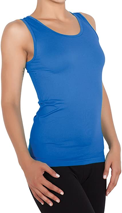 TALLA XS. miorre Camiseta sin Mangas para Mujer Sin Costuras Camiseta Tirantes Mujer
