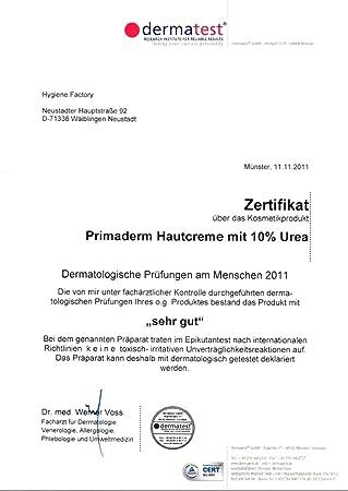PrimaDerm skin cream, 10 % urea premium hand cream, 500 ml with ...