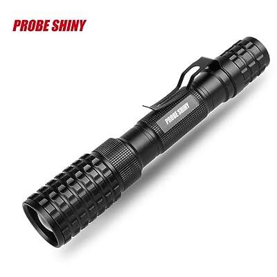 mitlfuny tactique Police 12000lm Zoom XM-L T6LED 5modes lampe torche de lampe de poche en aluminium Idéal pour le camping, la randonnée et promenade avec chien, multicolore