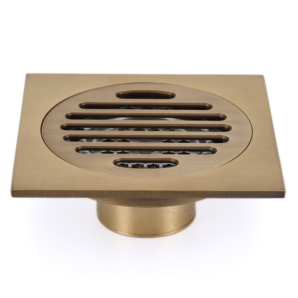 Incredible Details About Square Brass Floor Drain Strainer Wast Bathroom Trap Wet Plumbing 100Mm Download Free Architecture Designs Oxytwazosbritishbridgeorg