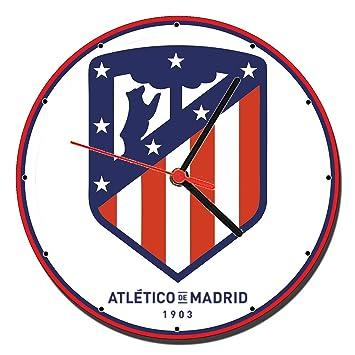 MasTazas Atletico De Madrid C Reloj de Pared Wall Clock 20cm