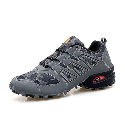 b44dc560165 XIANV - Zapatos Planos con Cordones de Caucho Hombre  Amazon.es  Zapatos y  complementos