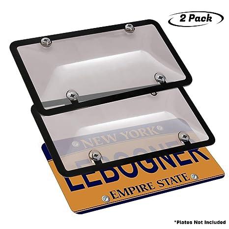 Amazon.com: Lebogner – Juego de 2 cubiertas para matrículas ...