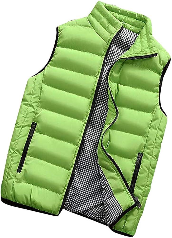 ZEVONDA Mens Clasp Padded Gilet Waterproof Body Warmer Outdoor Multi Pocket Waistcoat Sleeveless Jacket