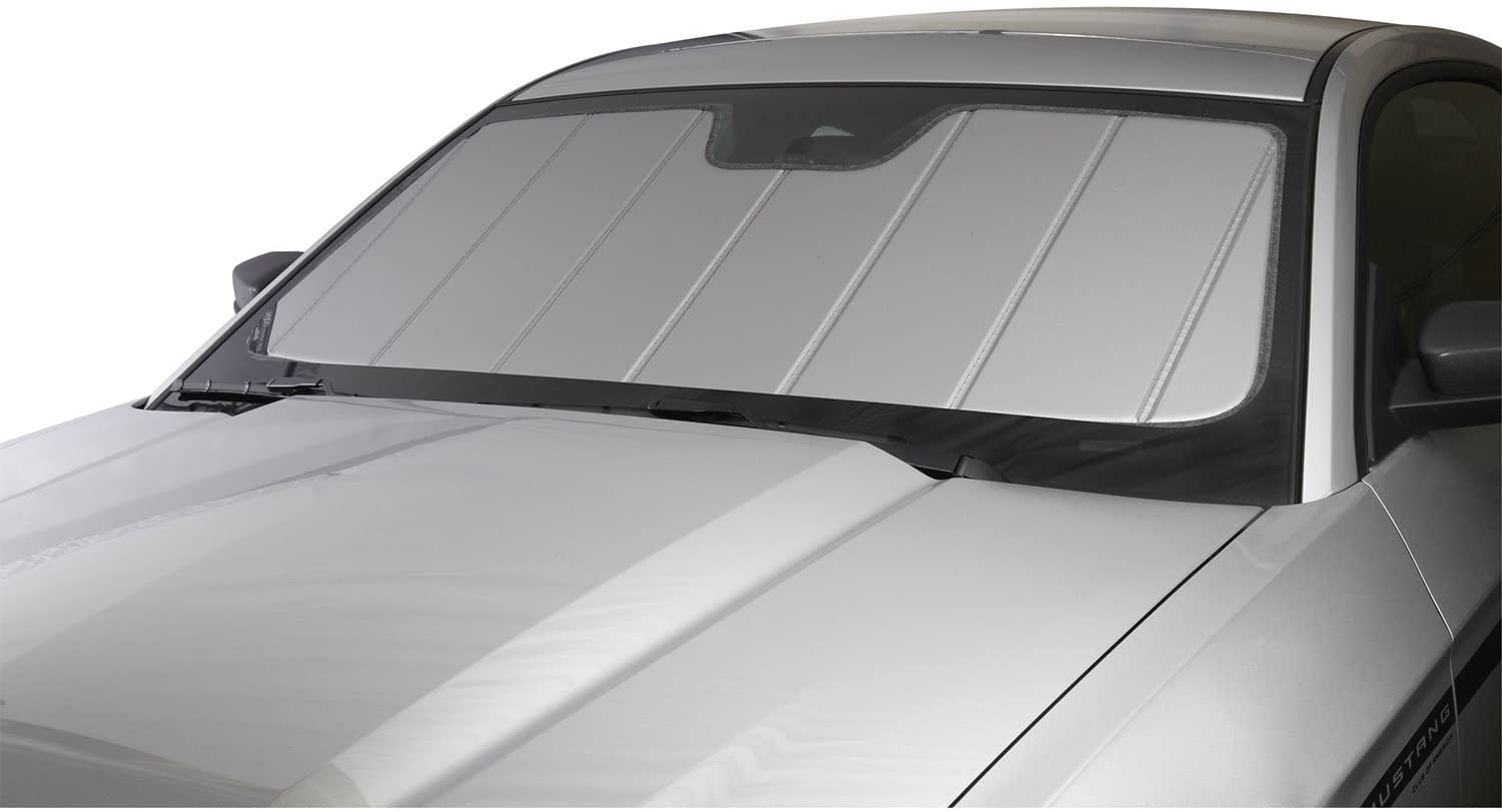 Laminate Material Covercraft UV10705SV Silver UVS 100 Custom Fit Sunscreen for Select Cadillac//Chevrolet//GMC Models 1 Pack