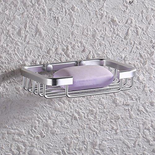 KES A4040 Bathroom Soap Dish/Holder Wall Mount, Aluminum (Mount Soap Dish Wall)