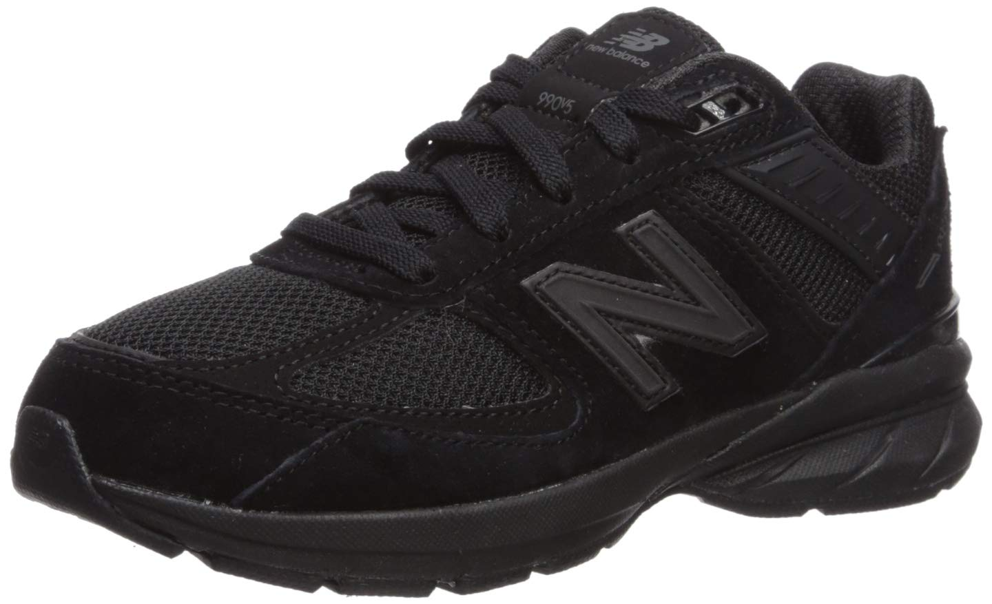 New Balance Boys' 990v5 Running Shoe, Black, 10.5 XW US Little Kid by New Balance