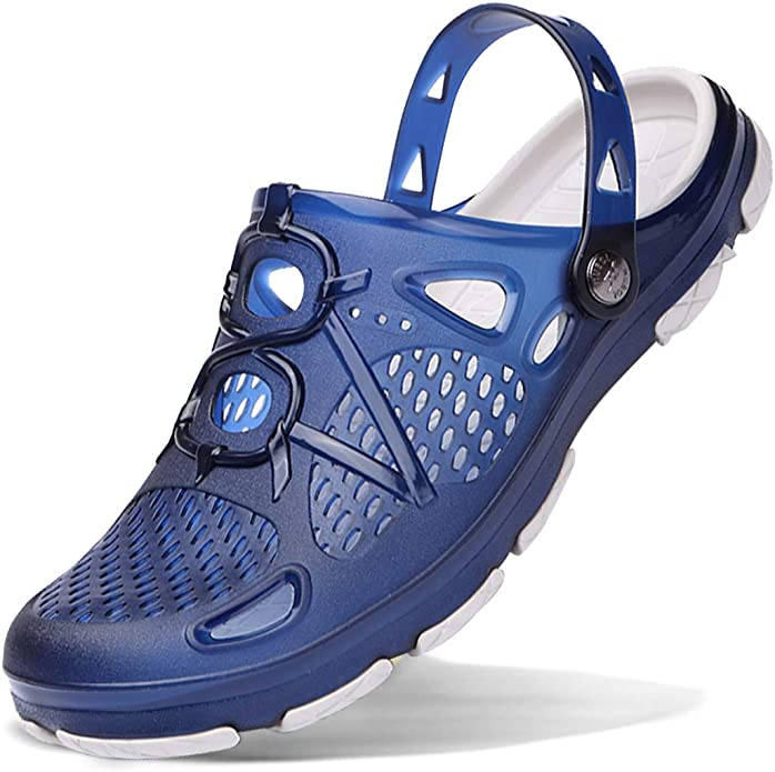 HAALIFE◕‿ Mens Garden Clogs Anti-Slip Beach Shower Sandals Slip on Massage Outdoor Walking Summer Slippers for Men