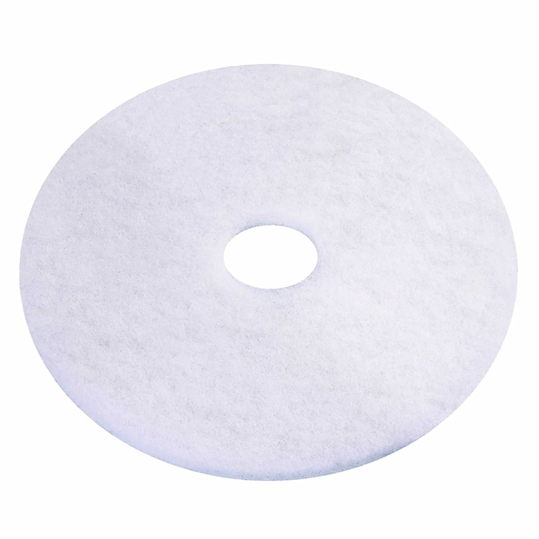 3M Scotch-Brite Premium Floor Polishing Pads 15' White 38cm - Pack of 5