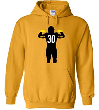 93ee0c767 Image Unavailable. Image not available for. Color  Gold Pittsburgh Conner  Strong Hooded Sweatshirt Adult