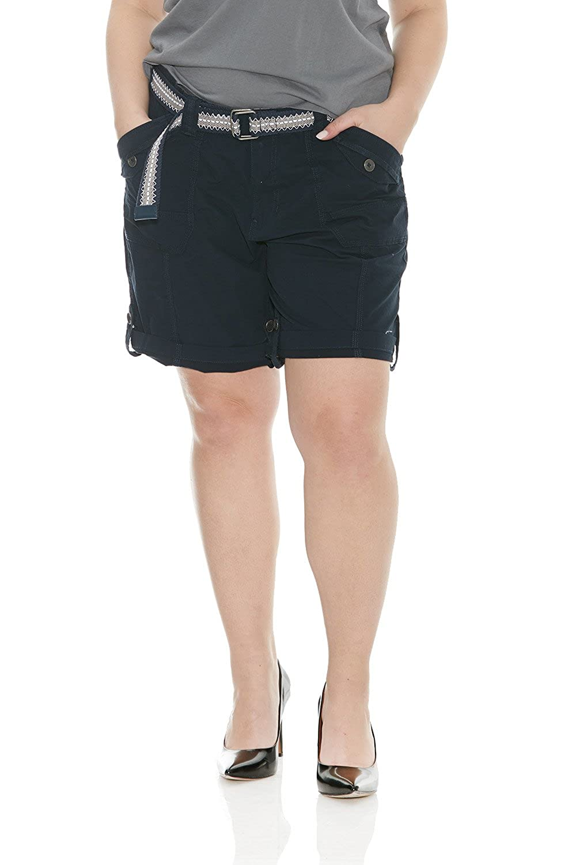 2145e0ab17b75 Suko Womens Adjustable Length Cargo Bermuda Shorts with Belt Size 2-22 Plus  S47050PARENT