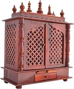 Indian Handicrafts Export Led Light Home Temple/Pooja Mandir/Wooden Temple/Temple for Home/Mandap