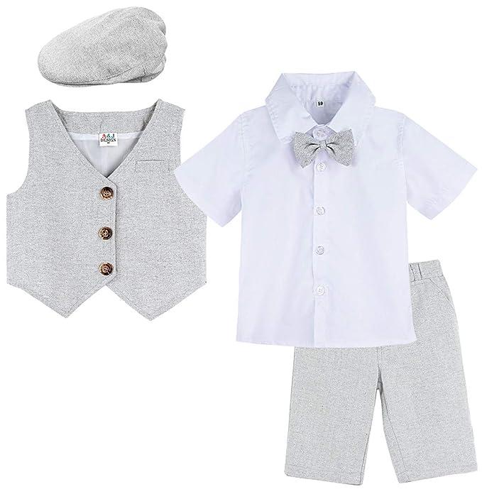 A&J DESIGN Conjunto Camisa de Manga Corta Bebé Niños, Traje ...